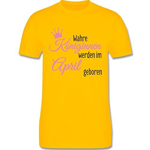 Geburtstag - Wahre Königinnen werden im April geboren - Herren Premium T-Shirt Gelb
