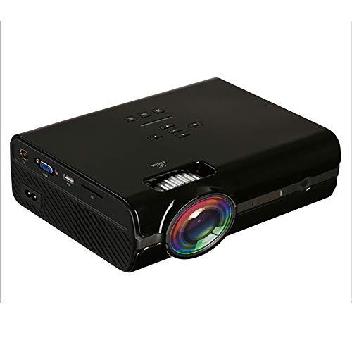 WBGSNHHH Projector2000 Lumen Mini Projektor, Video Projektor Mit Bonus Tasche, Kompatibel Mit Fire TV Stick, Android Telefon, HDMI, VGA, USB, AV, TF Gerät,Black