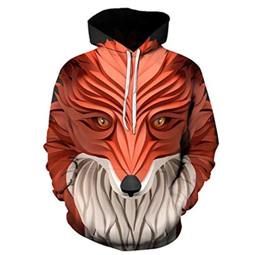 Unisex 3D Animal Print Hoodies Löwe Geschnitzte Sweatshirts Pullover WY-178 - Benutzerdefinierte Kinder Tanz Kostüm