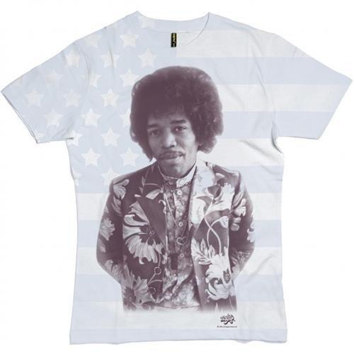 T-Shirt (Unisex-S) All Over Flag Print (White) [Import anglais]
