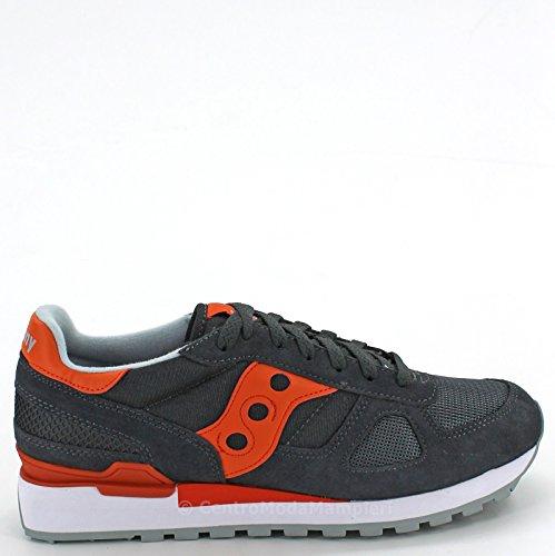 Saucony Sneakers Shadow Velourleder und Textilie Anthrazit Grau