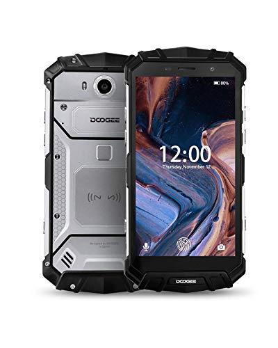 doogee s60 lite rugged smartphone octa-core, ip68 cellulare android 8.1 impermeabile antiurto, 4g dual sim 4gb+32gb, octa-core 5,2 pollici 5580mah, 16.0mp fotocamera, ricarica wireless nfc, argento