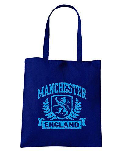 T-Shirtshock - Borsa Shopping TSTEM0110 manchester england Blu Navy