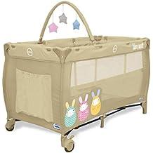 Asalvo Complet Duo - Cuna de viaje plegable con bolsa de transporte, diseño Baby Rabbit, color beige