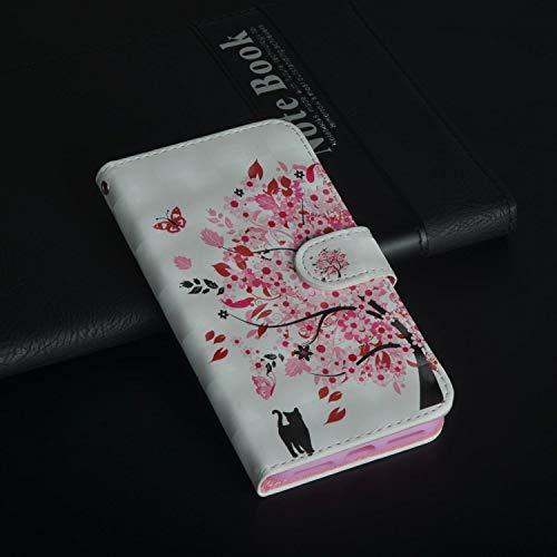 Für ZTE Max XL N9560 (Z986) Hülle, Geschäft Leder Wallet Schutzhülle Case Cover für ZTE Max XL N9560 (Z986) [Cat Tree]