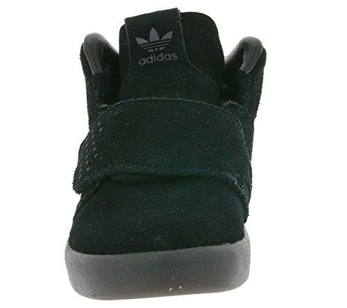 adidas Originals Tubular Invader Strap I Les enfants sneaker en cuir noir BB0401 Schwarz