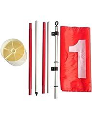 HLC Nylon patio practicar agujero de Golf Polo Cup Flag Stick base set regalo perfecto para cualquier golfista