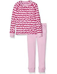 Odlo - Set Warm Kids Shirt L/S Pants Long, color rosa , talla 140
