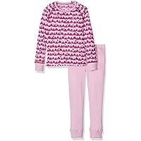Odlo Set Warm Kids Shirt L/S Pants Long, color rosa, talla 140
