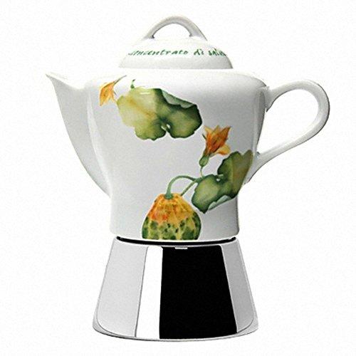 Ancap Nicole Antique 4cup Moka Pot Express Stovetop Espresso Kaffeemaschine (Kürbis-Blume)