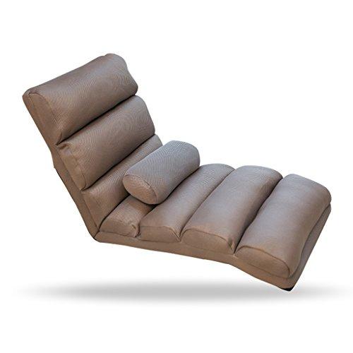 GJM Shop Lounge Sessel - Faules Sofa Einzelklappsofa Waschbar Mittagspause Liegestuhl Schlafzimmer Freizeitstuhl Liegestühle Orange/Grau/Rot/Grün/Rosenrot - Einstellbarer tragbarer Klappstuhl