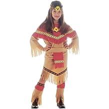 RAY - Disfraz de indio del salvaje oeste para niña, talla 11 - 13 años (36668)