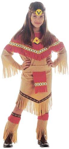 Widmann 36666 - Kinderkostüm Ray of Moonlight, Kleid mit Gürtel, Üœberstiefel und Kopftuch (Indianer Kostüm Ideen Für Mädchen)