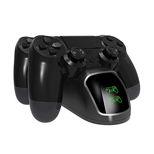 LREGO Fast Dual Ladegerät, DualShock 4 Ladestation mit einem Bildschirm, für PlayStation 4 Controller, PlayStation Slim 4 Controller und PlayStation 4 Pro Controller