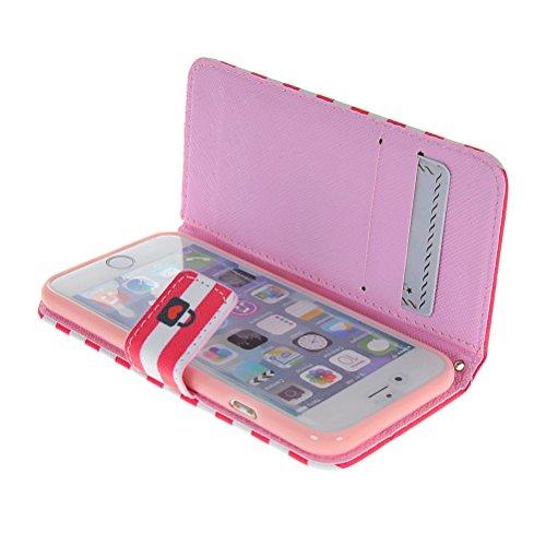 MOONCASE Coque en Cuir Portefeuille Housse de Protection Étui à rabat Case Pour Apple iPhone 6 ( 4.7 inch ) 18