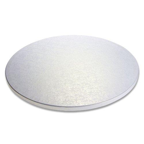 Städter POR-900011 Plateau à gâteau en Carton, diamètre 250 mm, Blanc Perle 25 x 25 x 25 cm