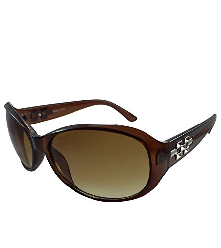Brown Oval Sunglasses For Women
