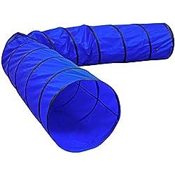 dibea Tunnel de Jeu Caverne pour Chien Bleu 500 x 60 cm