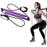 Draagbare Pilates Bar Kit,Benen Butt Arms Schouder Krachttraining, Oefenbanden voor Fysieke Therapie, Van toepassing zijn Yog
