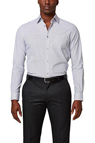 ESPRIT Collection Herren Businesshemd Grau (Anthracite 010)