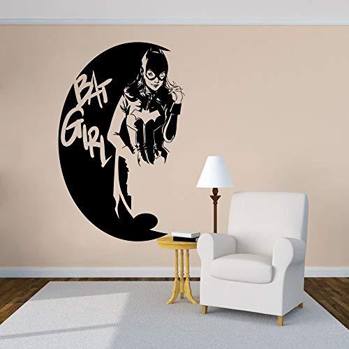 Cartoon Design Wandtattoo Superheld Vinyl Wandaufkleber Mädchen Home Decor Logo Wandkunst Poster 42X66 ()