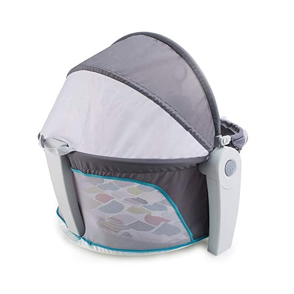 Fisher-Price FWX16 On-The-Go Baby Dome, New-Born Baby Cot or Travel Bassinet, Suitable from Birth Fisher-Price  two-in-one, play space and napping spot   Can be used indoors or out    Canopy protects against the sun and bugs  6
