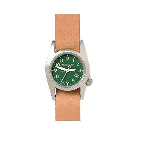Bertucci 18015Unisex in acciaio inox quadrante verde in pelle Smart Watch