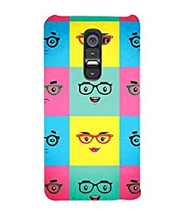 Fabcase emoji spects boy and girl facial expressions classic decent Designer Back Case Cover for LG G2 :: LG G2 Dual D800 D802 D801 D802TA D803 VS980 LS980