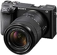 كاميرا سوني الفا 6400 إطار كامل بدون عاكس مع عدسة SEL18135 او اس اس قابلة للتبديل مقاس 18-135 مم، 24.2 ميجابكس