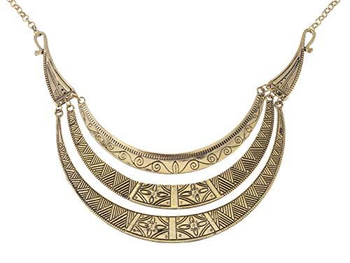 Kostüm Billig Ägyptische - Alilang Bronzeton ägyptischen Crescent Moon Geformte Lätzchen Einstellbare Halskette