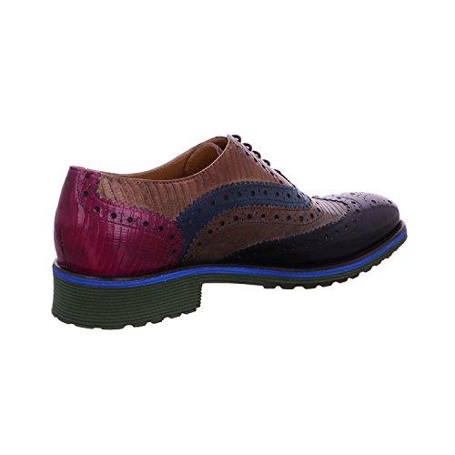 Melvin & Hamilton  Amelie 10 Navy, Chaussures de ville à lacets pour femme Navy/LT.Grey