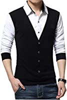 Seven Rocks Men's Cotton Waist Coat Style T-Shirt