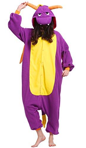 Pyjama Tier Onesies Erwachsene Unisex Cospaly Lila Drachen Geeignet für Hohe (Drachen Kostüme Erwachsene)