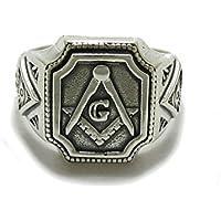 Anillo masónico de plata de ley de caballero 925 R001781
