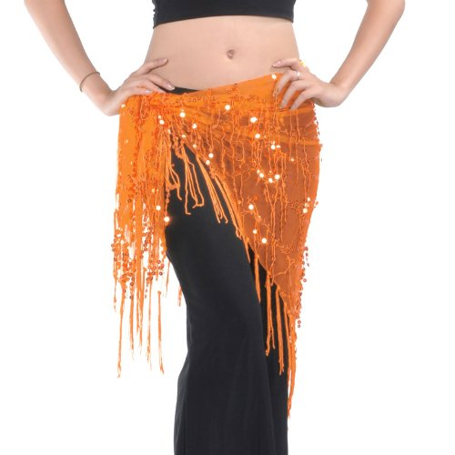 Belly Dance Hip Écharpe Châle avec frange Tribal de triangle. Style 13