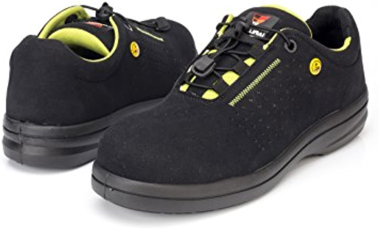 Samurai 1034296002 par de zapatos bajos Sapphire S1P SRC ESD, Negro/Verde, 36