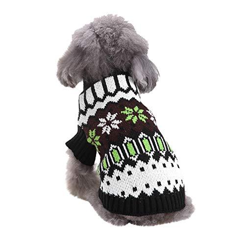 Amphia - Schneeflocke-Strickjacke des Haustierhundes hoher Kragen,Weihnachten Schnee Haustier Hund Katze Winter Turtle Neck Sweater Coat Costume ()