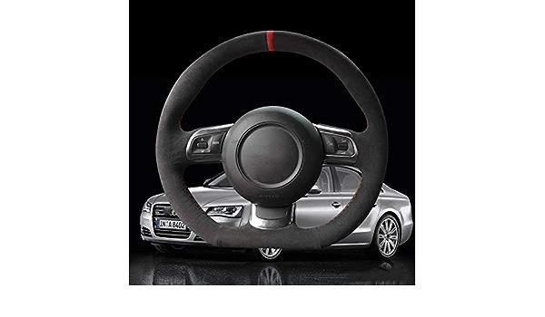8J Sportback 2008-2012 Pelle Nera Cucita a Mano Fai da Te Traspirante e Antiscivolo DYBANP Coprivolante 8P per Audi TT TTS 2006-2013 2014 A3 S3