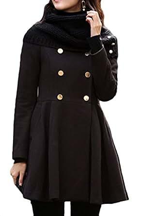 Femme Trenchcoat Veste avec Jacket Outwear Manteau d'hiver Scothen tqwax6Rn