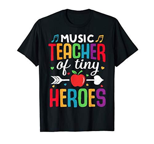 Musiklehrer zurück zum ersten Schultag Tiny Heroes 1st T-Shirt
