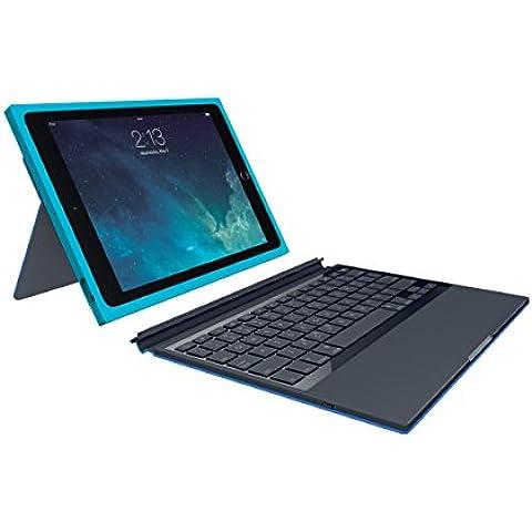 Logitech BLOK - teclados para móviles (Inalámbrico, Bluetooth, Apple, iPad Air 2, Swiss, Azul, Cian)