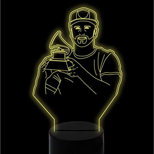 7 colori cambia 3D Visual Led Singer Hold piccolo fonografo Modellazione Night Light Kids Touch lampada da scrivania musicale Usb Trophy Decor