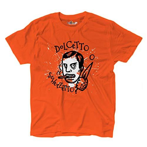 KiarenzaFD T-Shirt Halloween Horror Dolcetto Scherzetto Psycho Orange, KTSA02345-L-orange, orange, L