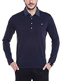 Dream Of Glory Inc. Men's Branded Full Sleeve Cotton Polo Shirts With Oxford Woven Shirt Collar Buttoned Pocket...