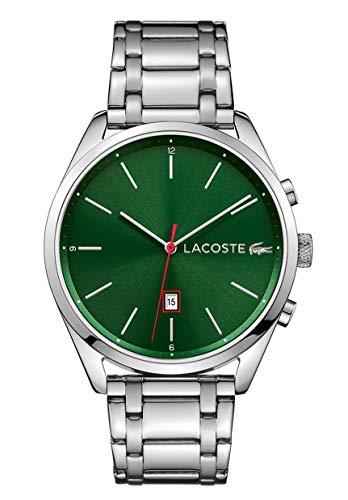 Lacoste Unisex Analog Quarz Uhr mit Edelstahl Armband 2010961