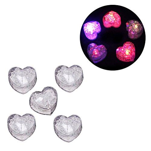 LEDMOMO Multi-Color Liquid Sensor Eiswürfel, Blinklicht LED Glühen Beleuchtung für Trinken Wein Hochzeit Party Bar Dekoration, Packung mit 5