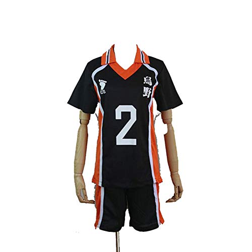 Kostüm Uniform Junge School - Haikyuu!! Karasuno High School Uniform Jersey No.2 Daichi Sawamura Shirts Cosplay Kostüm (XL)