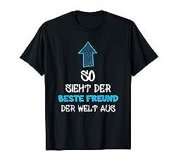 Bester Freund der Welt T-Shirt Geschenk Freund, Partner