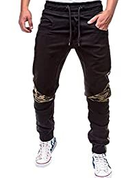 Hombre Pantalones Largos,ZARLLE Moda De Deporte Camuflaje Trincaje Cinturones Casual Loose Pants Drawstring Pant
