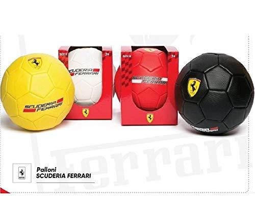 Mesuca Ferrari 950221, Fußball PVC Unisex Kinder, Rot/Gelb/Schwarz/Weiß, 5